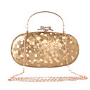 cheap Clutches & Evening Bags-Women's Bags Faux Leather Evening Bag Rhinestone / Metal Chain Black / Silver / Red