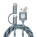abordables Relojes Inteligentes-USB 2.0 Cable, USB 2.0 to Micro USB 2.0 Lightning Cable Macho - Macho 1,5 m (5 pies)