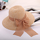 cheap Ballroom Dance Wear-Women's Hat Straw Hat / Sun Hat - Solid Colored Bow / Pure Color