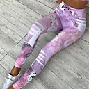 cheap Women's Boots-Women's Sporty Legging - Striped / Color Block, Print High Waist / Floral Patterns / Skinny