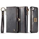 זול מגנים לטלפון & מגני מסך-מגן עבור iPhone 7 / iPhone 7 Plus / iPhone 6s Plus ארנק / מחזיק כרטיסים / מגנטי כיסוי מלא אחיד קשיח עור אמיתי ל iPhone 7 Plus / iPhone 7 / iPhone 6s Plus