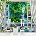 billige Vegglamper-Trær / Blader 3D Klassisk Hjem Dekor Orientalsk Moderne / Nutidig Tapetsering, Lerret Materiale selvklebende nødvendig Veggmaleri, Tapet