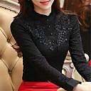 preiswerte Parykopfbedeckungen-Damen Solide Ausgehen Bluse