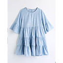 cheap Walkie Talkies-Girls' Striped Short Sleeve Dress