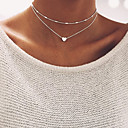 cheap Bracelets-Women's Beads Choker Necklace - Heart Basic Gold, Silver Necklace For Wedding, Party, Birthday