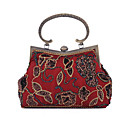 cheap Wedding Shoes-Women's Bags Polyester Evening Bag Rhinestone / Pearls Black / Wine
