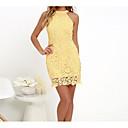 זול תכשיטי דת-קולר מיני תחרה, אחיד - שמלה נדן כותנה מידות גדולות מתוחכם Party / ליציאה בגדי ריקוד נשים / קיץ