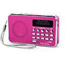 olcso Rádió-L-938 FM Hordozható rádió MP3 lejátszó TF kártya Világvevõ Piros / Kék / Rózsaszín