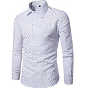 cheap Wall Stickers-Men's Cotton Shirt - Solid Colored Polka Dot