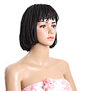 cheap Synthetic Capless Wigs-Synthetic Wig Bob Haircut Synthetic Hair Wig Short Capless Brown Natural Black