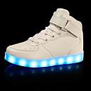 זול LED Shoes-בנים נוחות / נעליים זוהרות דמוי עור נעלי ספורט ילדים קטנים (4-7) / ילדים גדולים (7 שנים +) הליכה וו ולולאה / LED שחור / כסף / אדום סתיו / חורף / גומי / EU39