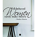 cheap Wall Stickers-Decorative Wall Stickers - Words & Quotes Wall Stickers Fashion / Shapes / Words & Quotes Bedroom / Study Room / Office / Shops / Cafes