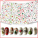 cheap Bathtub Faucets-10pcs/set Christmas Ornaments / Nail Sticker Nail Decals / Christmas Nail Art Design