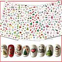 billige Jul Nail Art-10pcs/set Julepynt / Negle klistermærke Negle Dekaler / Jul Nail Art Design