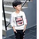 preiswerte Hosen für Jungen-Jungen Kleidungs Set Baumwolle Herbst Langarm Weiß Schwarz Grau