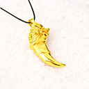 cheap Men's Necklaces-Men's Pendant Necklace / Chain Necklace - Gold Plated Animal, Wolf Punk, Rock, Fashion Gold Necklace Jewelry For Gift, Casual, Stage