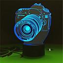 cheap Night Lights-1set 3D Nightlight USB Battery Color-Changing Decorative