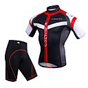 cheap Cycling Jersey & Shorts / Pants Sets-Realtoo Men's Short Sleeve Cycling Jersey with Shorts - Black / Red Blue / White Bike Clothing Suit 3D Pad Quick Dry Sports Spandex Mountain Bike MTB Road Bike Cycling Clothing Apparel / Stretchy