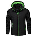 cheap Softshell, Fleece & Hiking Jackets-Men's Sports Plus Size Jacket - Solid Colored Plaid / Checkered Hooded