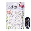 cheap Nail Stickers-1 pcs Glitter Powder 3D Nail Stickers Nail DIY Tools nail art Manicure Pedicure 3D Fashion Daily