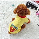 cheap Dog Training & Behavior-Dog Vest Dog Clothes Geometric Black Gray Yellow Blue Cotton Costume For Pets Casual/Daily