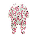 cheap Baby Girls' Clothing Sets-Baby Girls' Animal Print Long Sleeve Overall & Jumpsuit