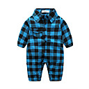cheap Wedding Decorations-Baby Boys' Check Plaid Long Sleeve Overall & Jumpsuit