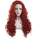 cheap Costume Wigs-Synthetic Wig Curly Synthetic Hair Red Wig Women's Long Capless Red StrongBeauty