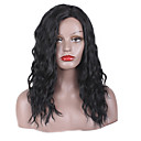 cheap Synthetic Capless Wigs-Synthetic Wig Wavy / kinky Straight Layered Haircut / Asymmetrical Haircut Synthetic Hair Natural Hairline / African American Wig Black Wig Women's Medium Length / Long Capless