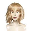 cheap Synthetic Capless Wigs-Synthetic Wig Straight Blonde Bob Haircut Synthetic Hair Blonde Wig Women's Short Capless Light Blonde