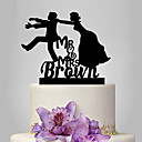 cheap Wedding Wraps-Cake Topper Classic Theme / Wedding Classic Couple Plastic Wedding with 1 pcs Poly Bag
