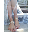 cheap Anklet-Synthetic Diamond Tassel Anklet - Imitation Pearl, Imitation Diamond Drop Personalized, Fashion Gold / Silver For Daily / Casual / Date / Women's