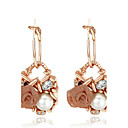 cheap Bracelets-Women's AAA Cubic Zirconia Drop Earrings - Gold Plated Flower Bohemian Gold For Party / Birthday / Daily