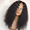 cheap Human Hair Wigs-Remy Human Hair Glueless Full Lace Full Lace Wig Brazilian Hair Kinky Curly Wig with Baby Hair 130% 150% 180% Hair Density Middle Part Sew in Natural Hairline 100% Virgin Women's Short Medium Length