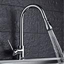voordelige Keukenkranen-Keuken Kraan - Single Handle Een Hole Chroom Bassin Hedendaagse Kitchen Taps / Messing