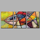 cheap Animal Paintings-Print Stretched Canvas - Animals Artistic / Modern / Contemporary Three Panels