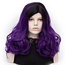 cheap Synthetic Capless Wigs-women synthetic wig capless medium deep wave dark purple ombre hair halloween wig costume wigs Halloween