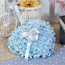 cheap Wedding Garters-Ribbon Tie Flower Silk Ring Pillow All Seasons