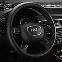 """זול שרשראות-כיסויים להגה עור 38ס""""מ בז' / אפור / קפה עבור Audi A4L / Q5 / Q7 כל השנים"""