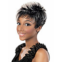 cheap Synthetic Capless Wigs-Synthetic Wig Wavy Synthetic Hair Highlighted / Balayage Hair / Dark Roots / Side Part Gray Wig Women's Short Capless / African American Wig