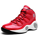 cheap Men's Athletic Shoes-Men's Light Soles Faux Leather Fall / Winter Comfort Athletic Shoes Basketball Shoes White / Black / Red