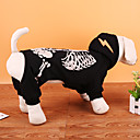 cheap Pet Christmas Costumes-Dog Costume Coat Sweatshirt Dog Clothes Skull Black Red Terylene Costume For Pets Party Cosplay Christmas Halloween