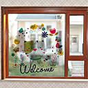 cheap Window Film & Stickers-Art Deco Christmas Window Sticker, PVC/Vinyl Material Window Decoration Living Room
