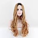 halpa Synteettiset peruukit ilmanmyssyä-Synteettiset peruukit Suora Synteettiset hiukset Liukuvärjätyt hiukset Vaaleahiuksisuus Peruukki Naisten Pitkä / Hyvin pitkä Suojuksettomat
