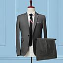 abordables Trípodes, Monopiés y Accesorios-Hombre trajes Delgado Un Color Retazos