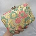 baratos Clutches & Bolsas de Noite-Mulheres Bolsas Courino Bolsa de Festa Bordado / Renda Floral Dourado