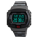 cheap Men's Watches-SKMEI Men's Sport Watch / Wrist Watch / Digital Watch Japanese Alarm / Calendar / date / day / Chronograph PU Band Luxury / Casual Black / Blue / Rose / Water Resistant / Water Proof / Luminous