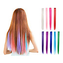 cheap Synthetic Extensions-Human Hair Extensions Hair Piece Straight Classic Synthetic Hair Hair Extension Clip In Daily