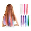 billiga Syntetisk hårförlängning-Hårförlängningar av äkta hår Hårstycke Rak Klassisk Syntetiskt hår HÅRFÖRLÄNGNING Klämma in Dagligen