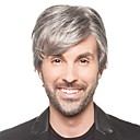cheap Synthetic Capless Wigs-Synthetic Wig Straight Synthetic Hair Gray Wig Men's Short Capless